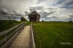 Fort Edward, Nova Scotia (Michelle Coleman) Tags: park clouds landscape novascotia military historic national windsor properties fortedward