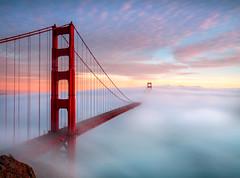 Golden Gate Bridge (awesternlens) Tags: california county bridge fog golden bay gate san francisco marin low area headlands ggb