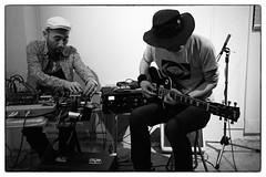 Toshimaru Nakamura/Tetuzi Akiyama/Shayne Bowden @ Bar Buena, Shinjuku, Tokyo, 30th April 2016 (fabiolug) Tags: leica blackandwhite bw music monochrome hat 35mm tokyo blackwhite concert shinjuku guitar live gig livemusic performance rangefinder summicron improvisation electronics improv monochrom biancoenero electricguitar leica35mm leicam 35mmsummicronasph tetuziakiyama leicasummicron toshimarunakamura summicron35mmf2asph 35mmf2summicronasph summicronm35mmf2asph improvisedmusicfromjapan shaynebowden mmonochrom leicammonochrom leicamonochrom barbuena