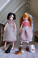 """Please give us some milk!!"" :P (cute-little-dolls) Tags: dog miniature milk doll handmade dollhouse gacha handsewing petworks dolloutfit pureneemo azonedoll ruruko"