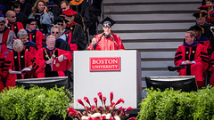 The first and I think only student speaker (kuntheaprum) Tags: graduation commencement bostonuniversity
