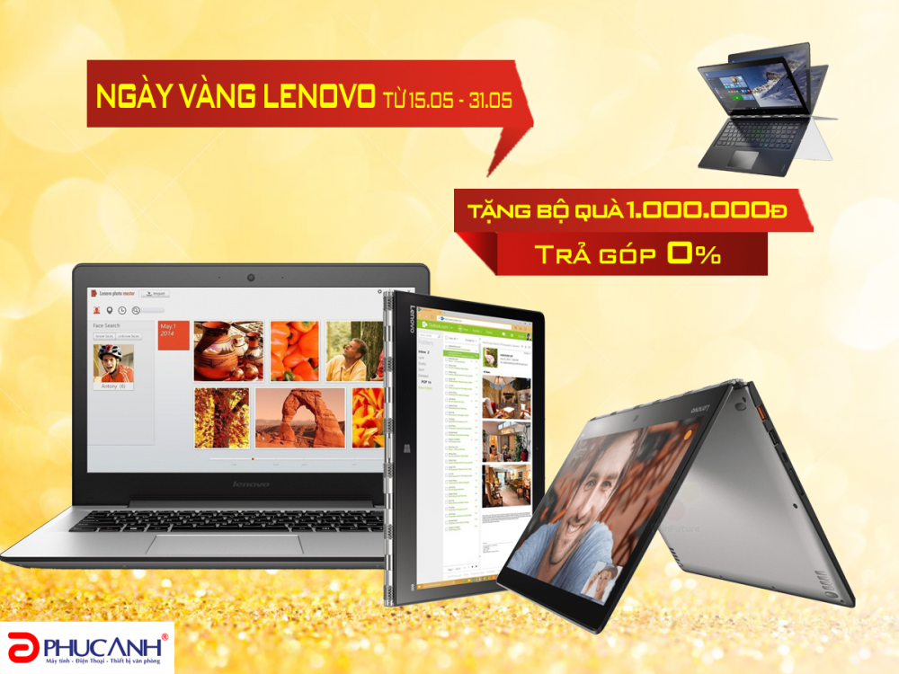 Ngày vàng Lenovo - Ngập tràn ưu đãi quà tặng