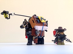 A trader and his pack horse (tmachine360) Tags: lego apocalyptic fallout trader packhorse apocalego