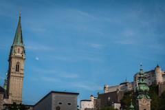 (Maya Lucchitta) Tags: moon salzburg castle austria sterreich churchtower osterreich oesterreich salzkammergut
