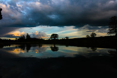 Mirror Mirror (Costigano) Tags: trees ireland sky irish lake nature water clouds canon reflections eos scenery dusk scenic kildare cartonhouse