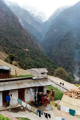 Modi Khola Valley (WhiteWith0ne) Tags: nepal mountain village hill valley mountainside annapurna himalayas chomrong chhomrong annapurnasanctuary modikholavalley whitewithonenet