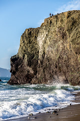 Waves against the rock (BiGYaN, ) Tags: ocean california sea seascape beach nature water rock landscape us wave pacificocean landsend 2016