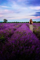 Lavender Bulgaria (sfabisuk) Tags: sunset girl field model lavender bulgaria shipka
