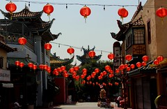 Los Angeles China Town (Prayitno / Thank you for (11 millions +) views) Tags: china california ca red lamp lights la town los downtown day time angeles outdoor down lampion lampoon konomark
