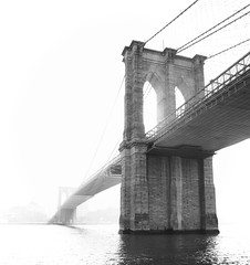 Brooklyn bridge (Robban.G) Tags: nikon d800 nikkor usa us newyork brooklynbridge bridge black water white bw manhattan