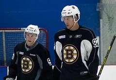 Matt Grzelcyk and Brandon Carlo (Odie M) Tags: boston wilmington ristucciamemorialarena bostonbruins developmentcamp rookies 2016developmentcamp nhl hockey icehockey teamsport sport mattgrzelcyk brandoncarlo