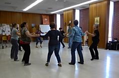 Catherine leads a dance worksop in Rogers  Center for Fine Art, Nebraska Wesleyan University campus (ali eminov) Tags: workshops danceworkshops dancers folkdancers catherine