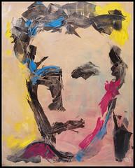 Retrato (Juan Viso) Tags: paint acrylic retrato colores pintura lienzo manchas