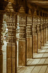 Bhaktapur Square (cwilson_0) Tags: wood nepal shadow texture kathmandu bhaktapursquare