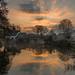 Sunrise at Bridge Cottage, Flatford