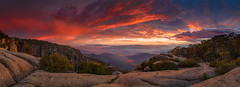 Mt Buffalo Sunrise (Bjorn Baklien) Tags: cliff storm reflection rock sunrise landscape bright pentax chalet mtbuffalo porepunkah 645z