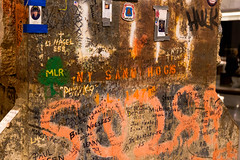 Trade Center Tribute (Ollerton57) Tags: new york city usa holiday newyork true america canon break unitedstates centre north free center east dreams land terror terrorism tribute messages trade manhatten touching 6d 24105