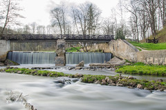 Double Flow (evelina_kir) Tags: water grass river spring nikon path stones double flowing lithuania vilnius vilnia d5100
