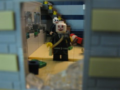 The Heist (bluenynja808) Tags: money broken glass lego mask bills clown rifle police bank banana rob armor sniper automatic thief shield safe robbery screaming shattered laundromat payday swat spilled heist candyshop nightops brickarms brickforge