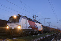 Early morning (Rivo 23) Tags: test train t sofia siemens rail db bulgaria locomotive 1500 trial freight 193 schenker 822 vectron