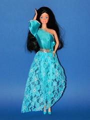 OOAK Barbie SnowPrincess (1982) by kikkola in Barbie Designer Originals  #3240 (1979) (Nexira) Tags: 1982 ooak barbie snowprincess