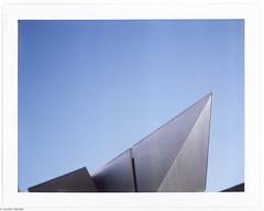 . (JHamel) Tags: architecture polaroid spring colorado denver april artmuseum modernarchitecture instantgratification 2015 instantfilm fujifp100c landcamera420