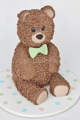 Teddy Bear (Irresistible Cakes) Tags: birthday bear cake teddy superhero christening babyshower fondant