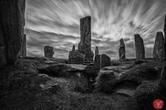 Against Time - Callanish I (Kasia Sokulska (KasiaBasic)) Tags: sky clouds landscape scotland spring standingstones stones fujix lewisandharris callanishi