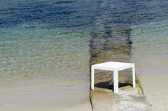 Table on the beach (Jan van der Wolf) Tags: sea beach water strand table tafel map128452v