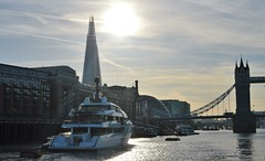 Vanish (10) @ Lower Pool 04-05-16 (AJBC_1) Tags: uk england london towerbridge boat ship unitedkingdom landmarks vessel landmark riverthames motoryacht cityskyline vanish londonskyline nikond3200 superyacht luxuryyacht feadship lowerpool theshard dlrblog ajc shipsinpictures stgeorgesstairs