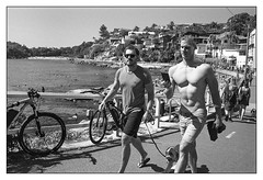 last days of summer  #132 (lynnb's snaps) Tags: summer film beach sydney apx100 agfa rodinal 2016 leicaiiic cv35mmf25ltm
