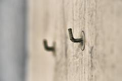 any given sunday (marco monetti) Tags: muro wall geometry perspective shallowdepthoffield geometria prospettiva anygivensunday ruleofthirds washedoutcolors fadedcolours colorisbiaditi laregoladeiterzi ognimaledettadomenica hookshapedanchors hookshapedplugs tasselliagancio limitataprofonditdicampo