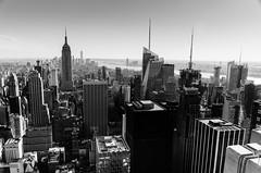 NYC in B&W (Luc Neuville) Tags: city nyc bw ny newyork us cityscape noiretblanc manhattan empirestatebuilding skycraper