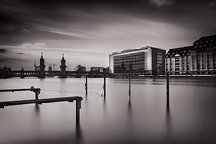 Berlin VI (philippdase) Tags: longexposure blackandwhite berlin kreuzberg germany fineart friedrichshain oberbaumbrcke nikond7100 sigma1835mm18 philippdase