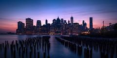 Manhattan Panorama (ch.gunkel) Tags: city nyc newyorkcity usa ny newyork skyline america skyscraper river cityscape manhattan bluehour amerika blauestunde
