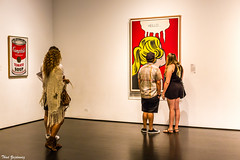 In the gallery (Thad Zajdowicz) Tags: art paintings pop people gallery museum indoor inside lacma losangelescountymuseumofart losangeles california lightroom primelens 50mm canon eos 5dmarkiii dslr digital available light women man