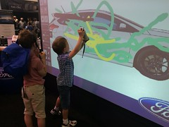 Paint a car - James (goforchris) Tags: summer cars battersea stations batterseapark londonmotorshow