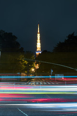 P6250139 (Zengame) Tags: cloud tower japan architecture night pen tokyo cloudy illumination landmark olympus illuminated cc jp creativecommons  tokyotower   zuiko     penf     mzuiko 12mmf20 mzuikodigitaled12mmf20 livecomposite
