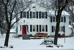 on Penfield Road (rochpaul5) Tags: new york winter ny wheel wagon nikon colonial scene monroe nikkor sled sleigh penfield