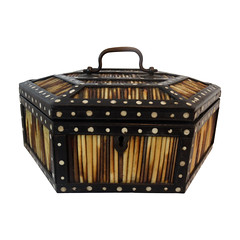 Hexagonal Ebony Porcupine Quill Box (thehighboy) Tags: miami boxes antiques collectibles decorativearts decorativeobjects highboy decorativeaccessories porcupinequillbox