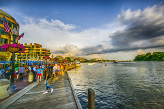 Sunset At The Georgetown Waterfront (Bill Adams) Tags: sunset washingtondc boat districtofcolumbia georgetown multipleexposures georgetownwaterfront a7rii a7r2