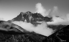 L'Argentiere la Bessee (Safarii) Tags: morning light sky cloud sun mountain france mountains alps tower water weather rock clouds rural french landscape high peak sunny ridge summit briancon largentiere largentierelebessee