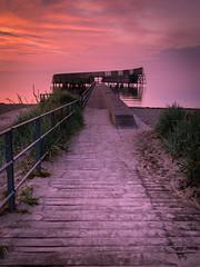 Horizon (Andris Nikolajevs) Tags: ocean morning sea sky beach water sunrise coast coastline cluds sandswimming