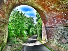 The Railway Bridge (AndyBailey) Tags: bridge arch walk surrey hdr brickwork albury 2016