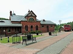 Oakland MD ~ historic 1884 station - HBM! (karma (Karen)) Tags: oakland maryland garrettco trainstations museums benches benchmonday hbm
