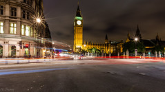 London (nigel.barry22) Tags: road london westminster night cityscape housesofparliament bigben lighttrails whiitehall