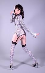 95H3L (klarissakrass) Tags: zebra heels stockings crossplay