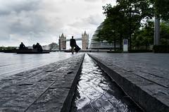 Down (raphael.chekroun) Tags: street uk bridge england london tower water weather modern dark gris gloomy down obscur