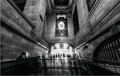 Over Time ( Esther ) Tags: new york city travel light people urban usa lighthouse white abstract motion black building art beautiful beauty station wall architecture train canon photography lights shadows angle famous wide structure