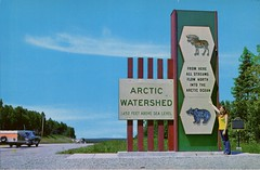 Arctic Watershed, Northwestern Ontario (SwellMap) Tags: architecture vintage advertising design pc 60s fifties postcard suburbia style kitsch retro nostalgia chrome americana 50s roadside googie populuxe sixties babyboomer consumer coldwar midcentury spaceage atomicage